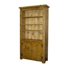 any size made SOLID WOOD BOOKCASE CUPBOARD BOOKSHELVES CHUNKY RUSTIC PLANK PINE