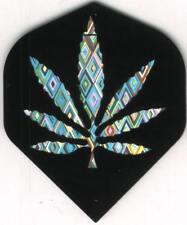 Holographic Pot Leaf Dart Flights: 3 per set