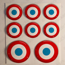 France Air Force Stickers Roundel Cockade 3D Adhesive Flag Resin Domed