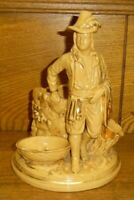 Antique Yelloware Figure Smoking Set - AS IS - 8""