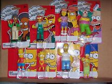 The Simpsons Set of 8 Collectible Action Figure Marge Bart Lisa Homer Apu Krusty