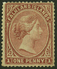 Falkland Islands  1878-79  Scott #  1  Mint Very Lightly Hinged