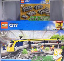 Lego 60197 Personenzug Bahnsteig Figuren Schienen + 60205 Schienen 20 tlg.  NEU