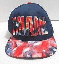 KB ETHOS Miami- Script City Pro Team- Blue/red-white Lettering Snapback Hat Cap