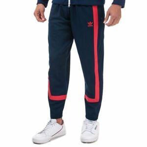 Men's adidas Originals Warm-Up Elastic Waist Tracksuit Bottoms in Blue