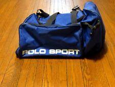 VTG 90 s 1992 Polo Sport Ralph Lauren USA Track   Field Canvas Duffel Gym  Bag 22c270379d859
