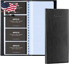 Mroco Business Card Organizer Book Business Card Holder Book Pu Leather Busines