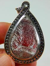 "1.77"" 55 cts. TOP SUPER SEVEN MELODY STONE STERLING SILVER PENDANT JEW 218"