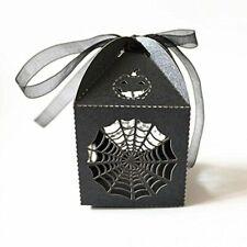 Pixnor 50 un. Halloween Fiesta Caramelo Cajas Halloween Goody Cajas-Estilo Telaraña