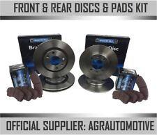 OEM SPEC FRONT + REAR DISCS AND PADS FOR AUDI A3 CABRIOLET 1.6 2008-10 OPT2