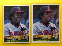 2x Lot 1984 Donruss #352 Rod Carew Angels *Noles2148* C/Shipping Buy 8= FreeShip