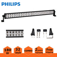 32inch 180W Philips LED Light Bar Spot Flood Offroad Driving Lamp Truck ATV Jeep