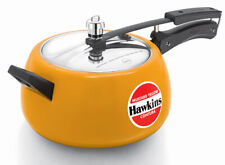 Hawkins Ceramic-Coated Contura 5 Ltr Mustard Yellow Pressure Cooker CMY50