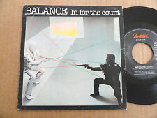 "DISQUE 45T DE BALANCE  "" IN FOR THE COUNT """