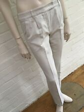 'S MaxMara Max Mara Ivory Mid-Rise Straight Leg Pants Trousers Size US 4 UK 6