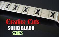 X Fretboard Markers Vinyl Inlay Sticker Decals BLACK for Maple Neck Fender Strat