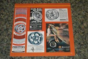 ★1969-72 RIM MAG ADS PICTURE FEATURE PRINT 70S DRAG FENTON CRAGAR REBEL KEYSTONE