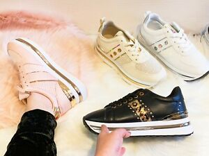 WOMENS LADIES LACE UP SPORT TRAINERS PARTY CHUNKY SNEAKERS WOMEN FASHION SHOES -