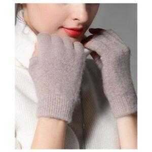 Pure Merino Wool Man Men Woman Women Half Finger Fingerless Gloves Mittens