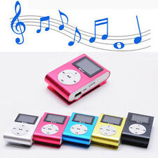 Mini Lettore MP3 Player Clip USB FM Radio LCD Screen Supporta 32GB Micro SD Rosa