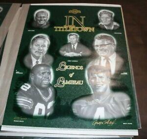 Green Bay Packers Legends of Lambeau artist signed 18x24 poster George Pollard