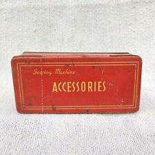1950s Vintage Accessoires Couture Machine Boite Boîte de Collection
