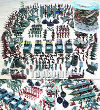 307 pcs Military Playset Plastic Toy Soldier Army Men 4cm Figures & Accessories