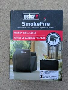 Weber SmokeFire EX4 (7190) Wood Pellet Grill Cover, Black Breathable