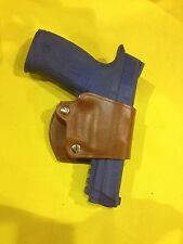 Leather YAQUI Style Holster -  Smith Wesson M&P 9mm / .40  (#049 BRN)