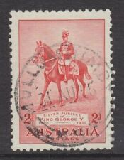 1935 Silver Jubilee King George V 2d Red FU *MULLUMBIMBY NSW POSTMARK* SG 156 (2