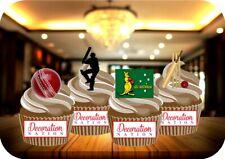 Cricket Australia Mix 12 Edible STANDUP Cake Toppers Decoration Birthday Sports