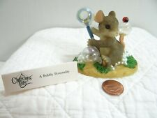 Charming Tails A Bubbly Personality Mouse Figurine Bubbles Wand 89/109 Boxed