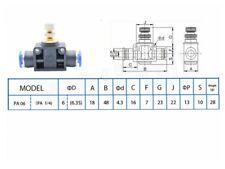 5pc 6mm Air Flow Speed Control Valve Tube OD 1/4