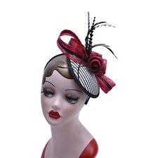Womens Ladies Dress Fascinator Wedding Kentucky Derby Sinamay Hat  T221