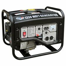Portable Gas Generator 1,350W Emergency Home Back Up Power Camping Tailgating