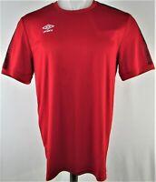 Umbro Men's Red Activewear Short Sleeve Shirt