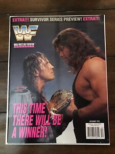 WWF Magazine December 1995 Bret Hart Diesel Cover w Jerry Lawler Giant Cutout