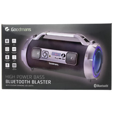 Goodmans High Power Bass Bluetooth Blaster 30Watts Multicolour LED Light Speaker
