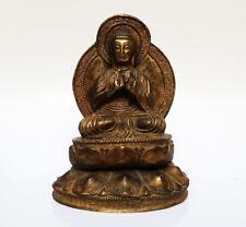 Ancien bronze doré bouddha sino-tibétain enseignement Tibet 18/19e