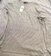 Ladies Pearl Studs Logo Light Grey Ralph Lauren T-shirt
