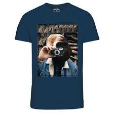 Camisetas de hombre de manga corta azul JACK & JONES