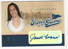 Janet Evans 2004 Donruss Elite Fans of the Game Autograph Card Auto Angels