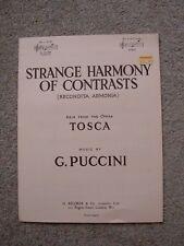 Strana armonia dei contrasti, spartiti musicali, Puccini, Tosca