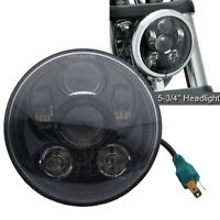 """5.75"""" Motorcycle 5-3/4'' LED Headlight Projector DRL For Harley Sportster Jeep"""