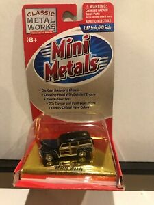 1/87 H.O. CLASSIC METAL WORKS MINI METALS 1948 FORD WOODY WAGON BLUE