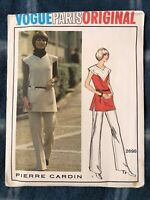 Vintage Vogue Paris Original Pierre Cardin Sewing Pattern #2698 Tunic & Pants