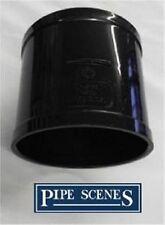 """Solvent 110mm Soil Pipe Straight Coupling Join Socket - Black Glued 4"""" uPVC Vent"""
