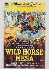 WILD HORSE MESA (1925) - DVD - Region Free - Sealed