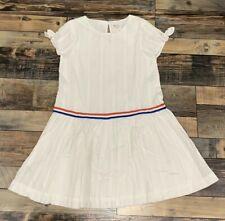 NWT GIRLS GYMBOREE WHITE DRESS Red White Blue Stripe SIZE L 10 12