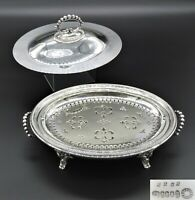 STUNNING JR&S EMBOSSED BREAKFAST WARMER ENTREE SERVING DISH TUREEN SILVER PLATED